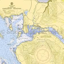Southeast Alaska Chart Alaska Juneau Nautical Chart Decor