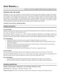 Nursing Objectives For Resume Sample Resume Letters Job Application