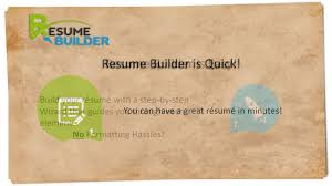 Easy Free Resume Builder cover letter fast resume builder resume builder for a fast food 62