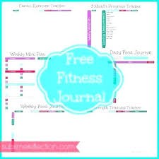 Monthly Fitness Diary Template Personal Training Activity Log
