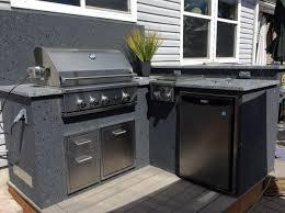 builtin gas grill outdoor refrigerator outdoor granite countertops