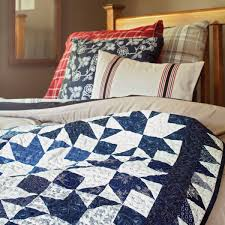 There's beauty in simplicity! Sew two-color quilts in both ... & Sew two-color quilts in both traditional color combinations and Adamdwight.com