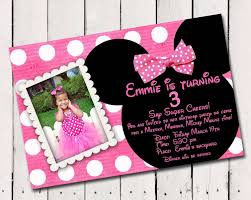 Minnie Mouse Birthday Invitations Personalized X8d1 Minnie Mouse