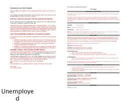 Unemployment Resume