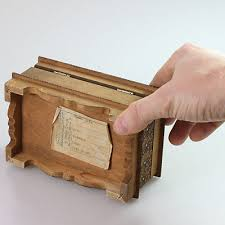 4 of 5 old vintage wooden storage jewellery box mini small casket chest case tray