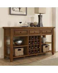 Great Deals on Crosley Furniture Sienna Wine Rack Console Table Brown