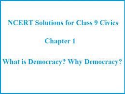 ncert solutions for cl 9 civics
