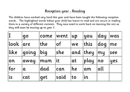 Free, printable phonics worksheets to develop strong language skills. Reception Words Assessment And Sheets Teaching Resources