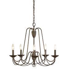 allen roth wintonburg 24 25 in 5 light aged bronze williamsburg candle chandelier