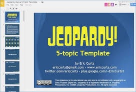 Jeopardy Game Template Jeopardy Template Google Slides | rezofthestory.com