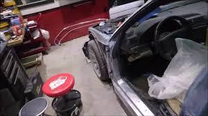 car door jamb. Door Jamb Sanding Car A