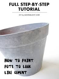 diy how to paint pots to look like cement full step by step tutorial