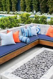 white and orange patio design ideas