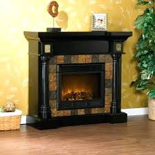 black electric fireplace mantel electric fireplace surround new black electric fireplace with slate tile surround for