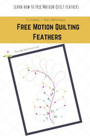 389 best Pantographs and Quilting Designs images on Pinterest ... & Learn how to free motion quilt feathers even on your own domestic machine.  Step by step tutorial on feather quilting plus free printable template. Adamdwight.com