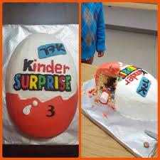 Egg Surprise Cake Design Kinder Egg Surprise Cake In 2019 Boy Birthday Parties