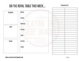 Weekly Menu Weekly Menu Planner