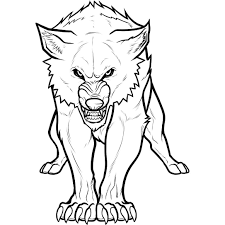 Wolf Coloring Pages 06