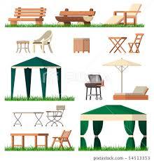 garden furniture vector tent table