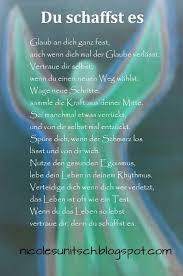 Du Schaffst Es Gedicht Von Nicole Sunitsch Zitat Aufmunternde