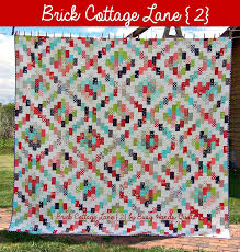 Busy Hands Quilts: Brick Cottage Lane {2} {a New Pattern!} & ... Brick Cottage Lane {2} ... Adamdwight.com