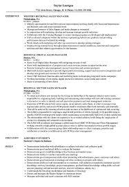Regional Sales Manager Resume Sales Manager Regional Resume Samples Velvet Jobs 18