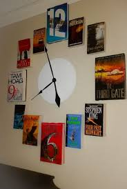 upcycled old book o clock