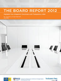 cgio newsletter issue  the board report 2012 highlights from singapore s governance and transparency index gti