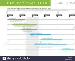 Vector Project Timeline Graph Gantt Progress Chart Of