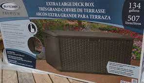 Product Review U2013 Suncast Premium 134 Gallons Extra Large Deck Storage Box