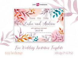 Easy Invitation Templates Free Wedding Invitation Template Free Psd Templates