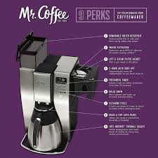 Standard cleaning of the mr. Mr Coffee Bvmc Pstx95 10 Cup Optimal Brew Thermal Coffee Maker Stainless Steel Home Garden Coffee Tea Espresso Makers