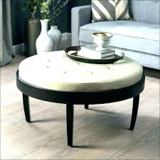 table pottery barn leather ottoman round coffee table griffin reviews