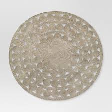 round outdoor rug ornate natural woven threshold target