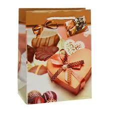 <b>Пакет подарочный</b> Шоколад 18 х
