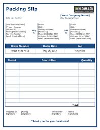 Sample Packing Slip Form 13 Free Packing Sliptemplates Word And Excel Hloom