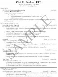 Sample Resumes University Career Services