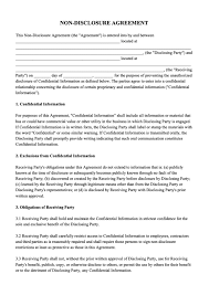 Nda Non Compete Template Free Non Disclosure Agreement Download Nda Template Pdf