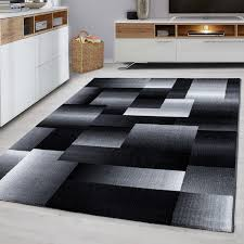 details about geometric rug modern black grey pattern carpet living room hall mats small large