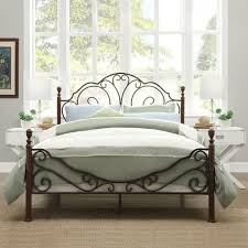 Metal Bed Frame Antique Vintage Country Rustic Victorian Style ...