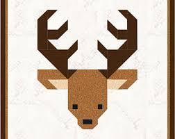 Christmas Santa's Reindeer Quilt Block Pattern PDF & Deer 12