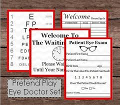 Are All Eye Charts The Same Pretend Doctor Eye Chart Patient Exam Check Up Kids Doc