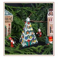 Christmas Tree Cross Stitch Chart Village Christmas Tree