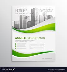 Green Brochure Template Green Real Estate Business Brochure Template Vector Image