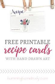 Mason Jar Printable Recipe Cards Fantabulous Printables