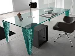 image of contemporary modern glass desk