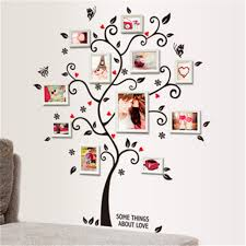 removable diy family tree wall sticker photo picture frame room decal black uk