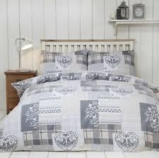 alpine patchwork duvet cover set 100 brushed cotton natural