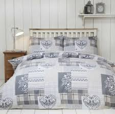 alpine patchwork duvet cover set 100 brushed cotton natural