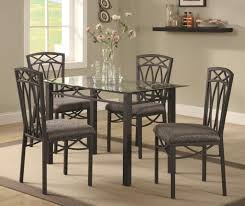 Glass Dining Table Set 4 Chairs Rectangular Glass Dining Table Kings Brand Furniture Rectangle